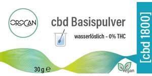 Label CBD Basispulver 1800